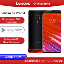 هاتف Lenovo Z5 Pro GT سنابدراجون 855 الذكي 8GB RAM 256GB 128GB ROM 6.39 في الشاشة بصمة 24MP