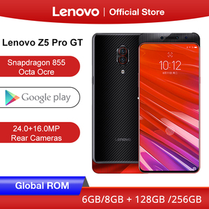 Image 1 - הגלובלי ROM Lenovo Z5 GT Pro Snapdragon 855 Smartphone 8GB RAM 256GB 128GB ROM 6.39 ב מסך טביעת אצבע 24MP