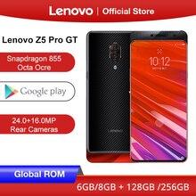 글로벌 ROM Lenovo Z5 Pro GT Snapdragon 855 스마트 폰 8GB RAM 256GB 128GB ROM 6.39 인치 화면 지문 24MP