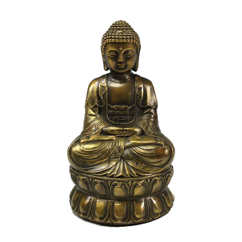 Vintage laiton méditant bouddha Statue rétro Zen assis bouddha Figure Sculpture maison bureau bureau décoratif ornement cadeau #2213