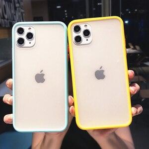Image 2 - Trasparente antiurto Hybrid Cassa Del Telefono Del Silicone Per il iPhone 11 Pro max X XS XR 12 Mini 7 8 Più di 6S Opaca Clear Frame Soft Cover
