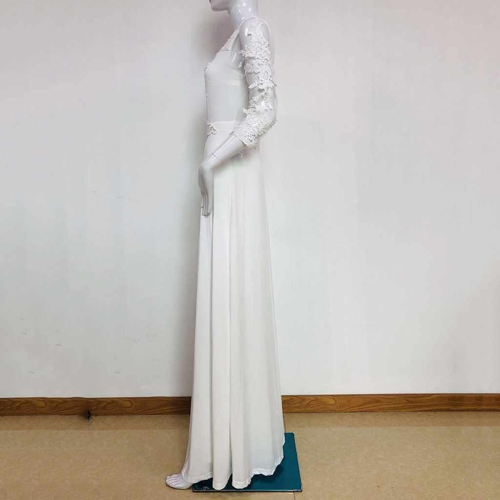 Kancoold 점프 슈트 여성 캐주얼 레이스 o 넥 레이스 업 점프 슈트 Playsuit 윈드 브레이커 Streetwear new Women jumpsuit 2020Apr1