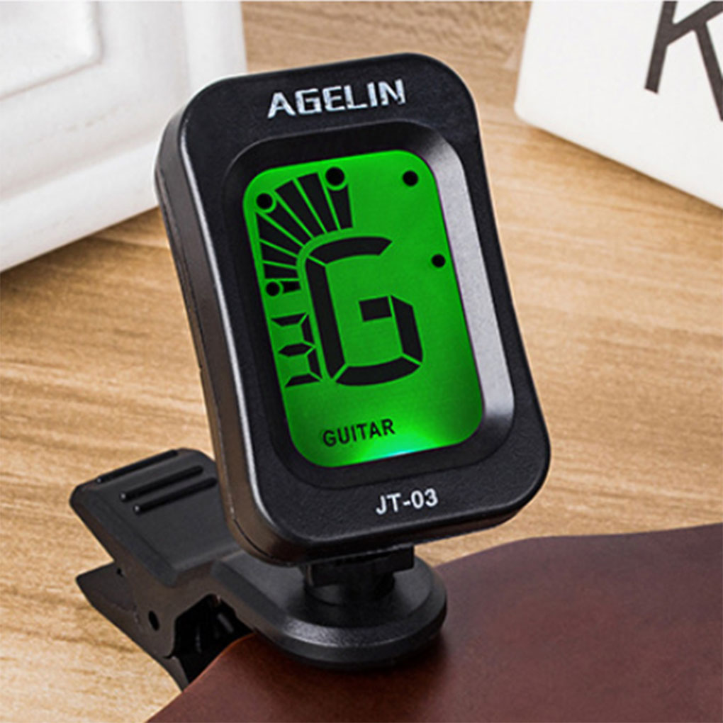 Digital Clip-on Electric Tuner Guitar Bass Ukulele Violin Universal Tuner LCDScreen Rotatable Accurate Tuning Guitar Accessories