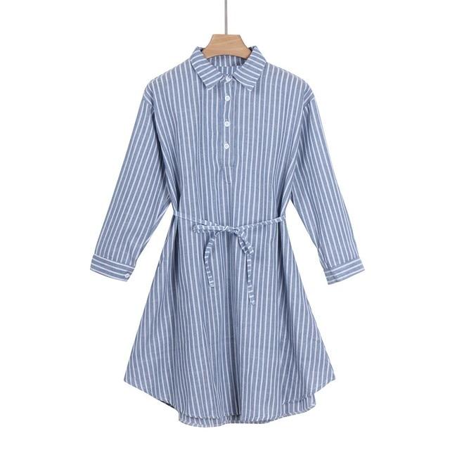 Striped Pregnant Maternity Dress for Women 3