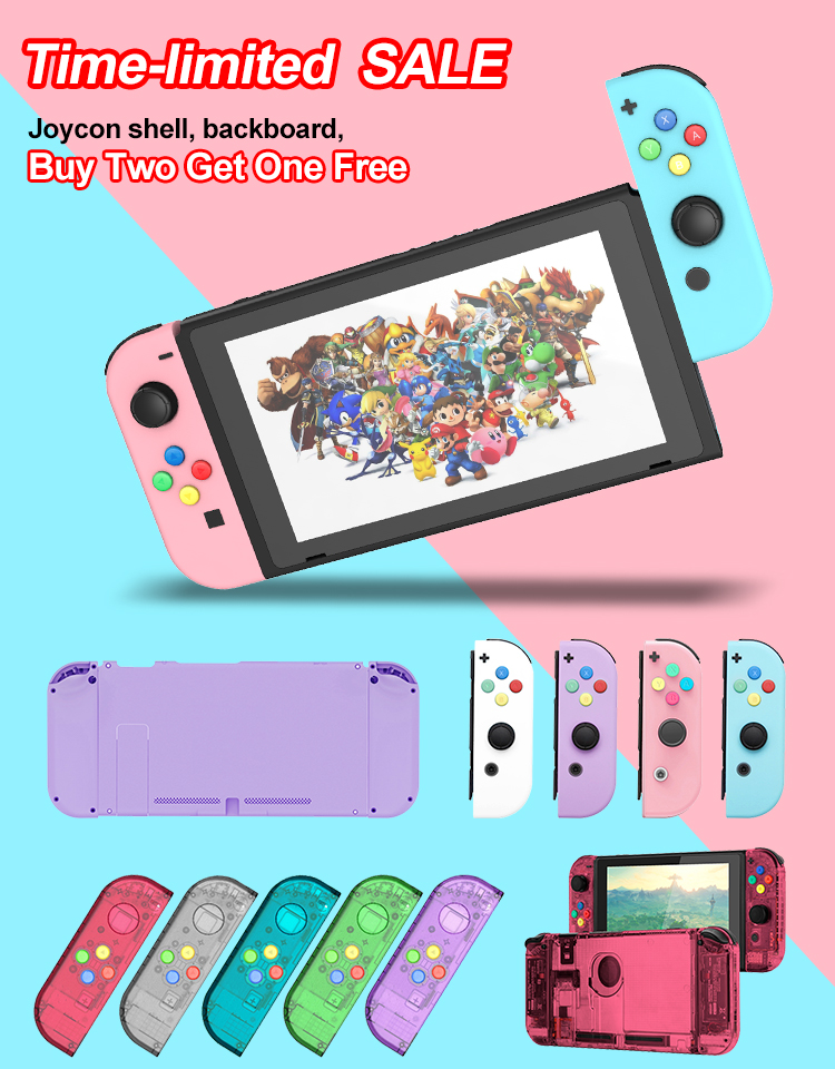 (Buy Two Get One Free)DIY Shell Case Replacement For Nintend Switch Joy Con Controller For Nintend Switch NS Joycon Shell