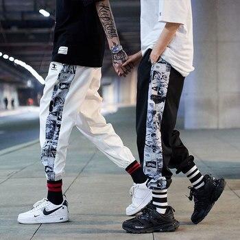 Mens side Anime Print Harem Pants for 2021 Fashion Trends Clothing Teens Hip Hop Trousers Japanese Streetwear Joggers Sweatpants 1