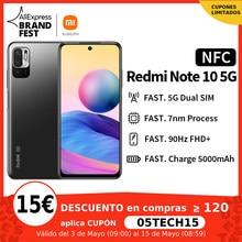[Lançamento mundial Em estoque] Xiaomi Redmi Note 10 5G NFC Versão global Smartphone Dimensity 700 90Hz FHD+ Tela 5000mAh 48MP Câmera