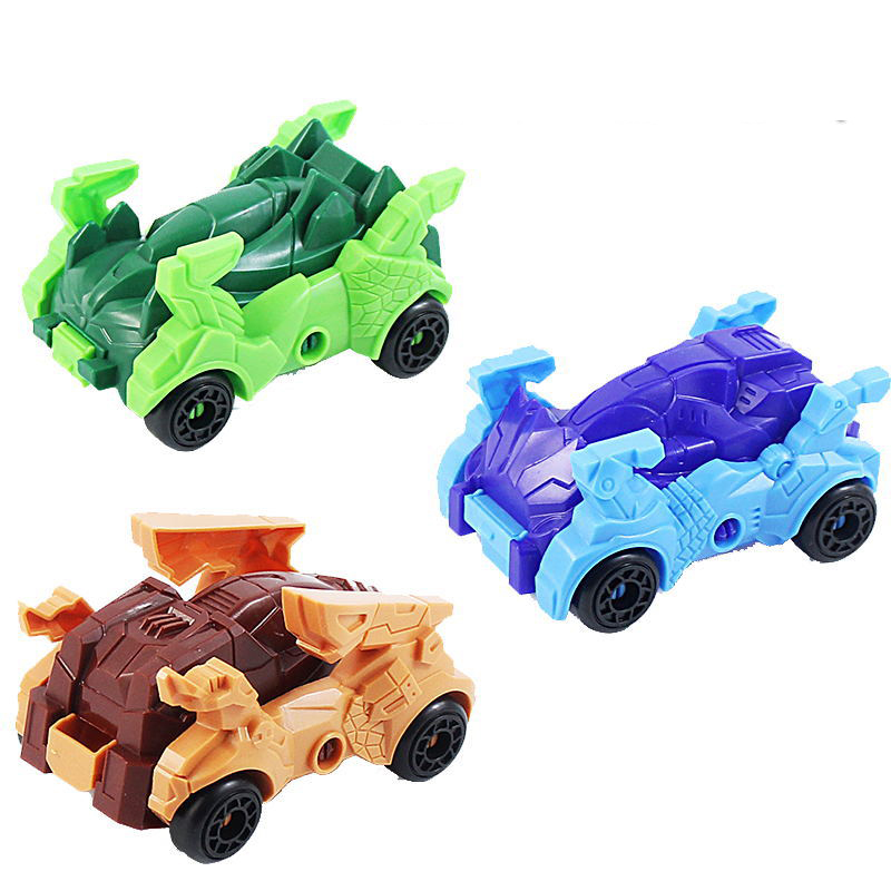 Self-assembled Deformable Dinosaur Toy Car Puzzle Assembled Foldable Dinosaur Model Twisted Toy Toy Food Candy Giveaway Gift