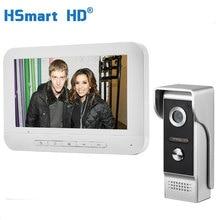 7 дюймов проводной видео дверной телефон визуальный видеодомофон спикерфон домофон система с водонепроницаемой наружной ИК-камерой