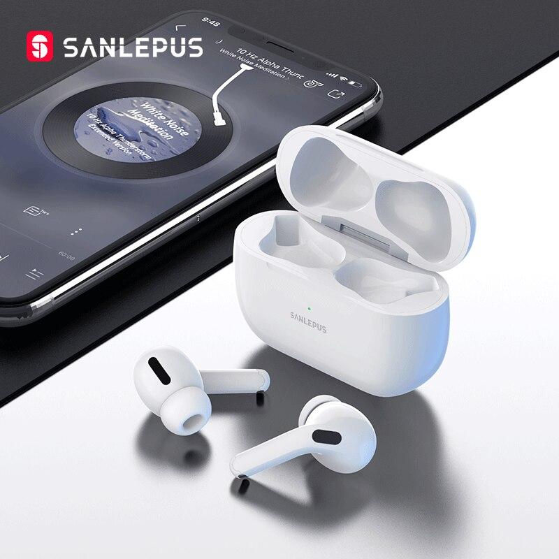 SANLEPUS – oreillettes sans fil Bluetooth 9D, écouteurs intra auriculaires TWS, stéréo, pour Android, iPhone, Xiaomi, Huawei, nouveau |