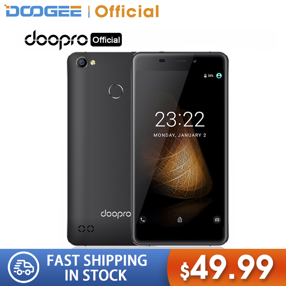DOOGEE Doopro C1 Android 7.0 SmartPhone 1GB RAM 8GB ROM 4200mAh MTK6580A Quad-core 8MP Fingerprint ID 3G Mobile Phone