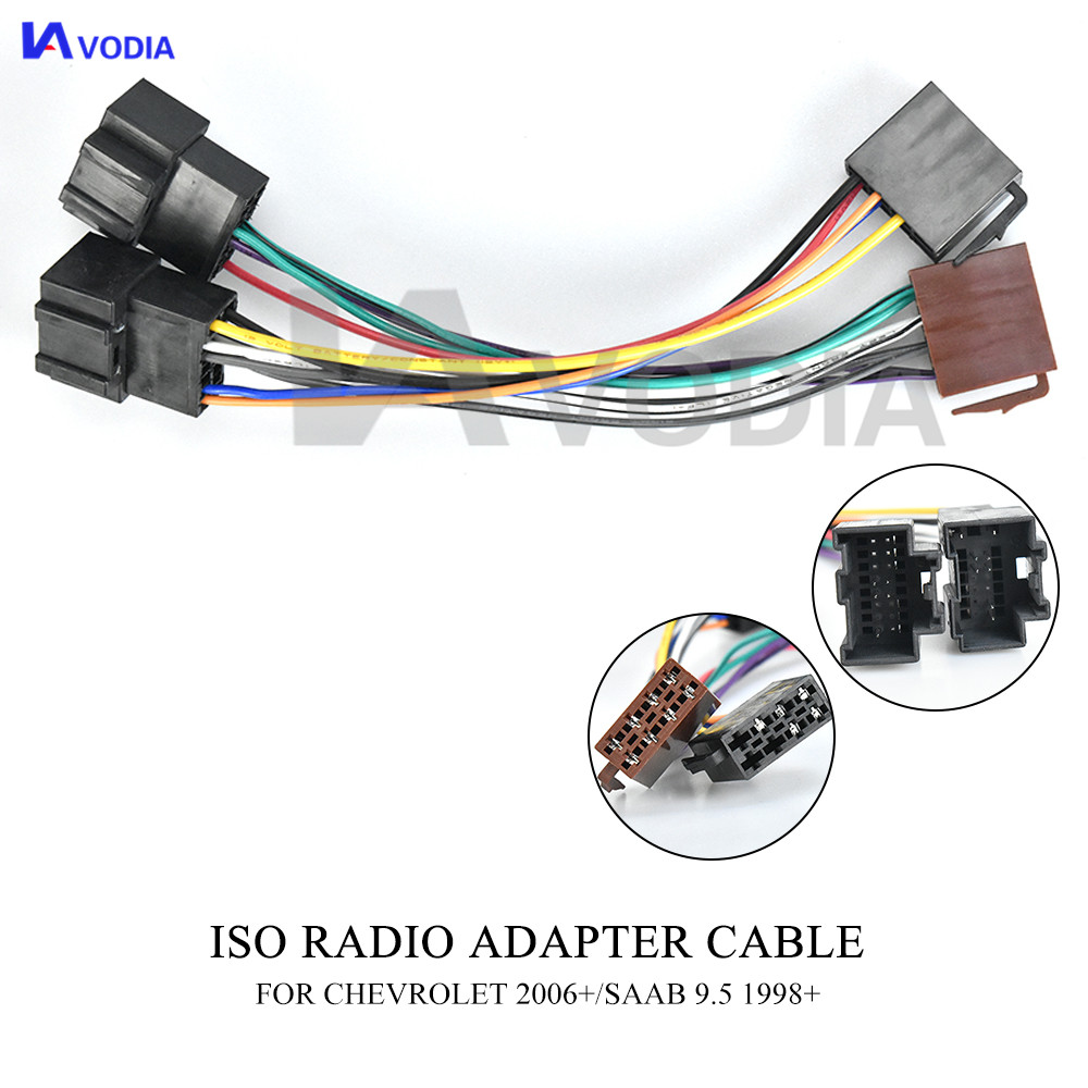 12-006 ISO Radio Wiring Harness Adaptor connector For chevrolet 2006-2011 (select models) For opel GT 2007+(China)