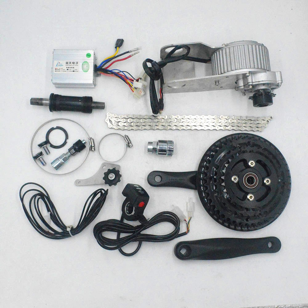 36V 350W/450W Mid Drive Motor Electric Bike Conversion Kit Bicycle Center Motor Engine MTB Mountain Bike Ebike image