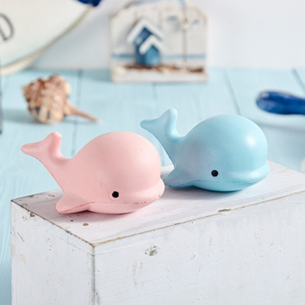 1 PC Kawaii Cute Dolphin Squeeze Animal Slow Rising Scented Bread Cake Kid Toy Gift