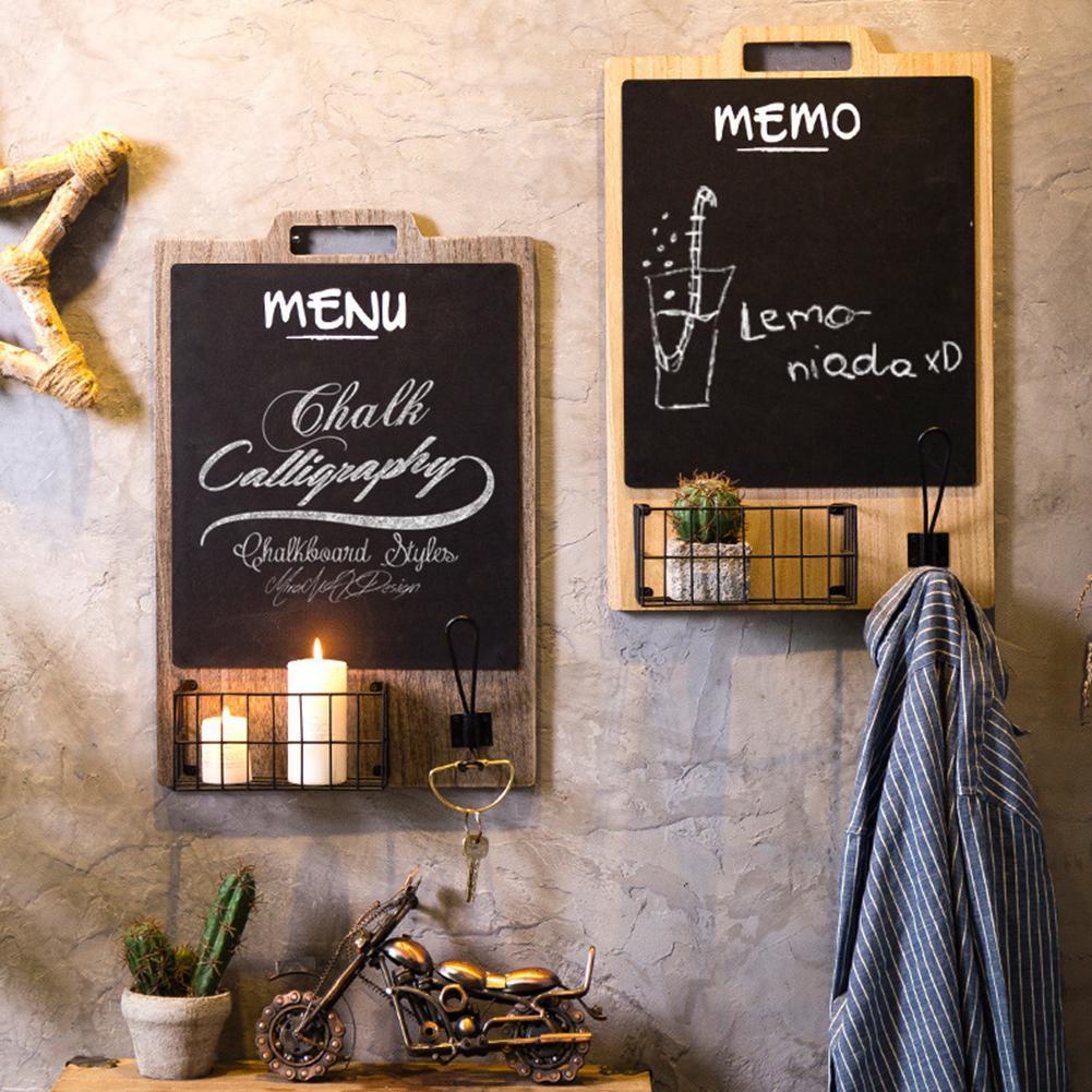 Pizarra de decoración de pared, tablero de mensajes colgante, innovador, Retro, té, cafetería para comprar restaurante, pizarra de niños