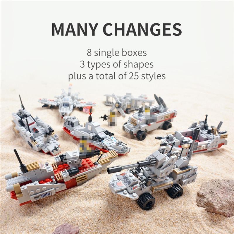 1000+ PCS Military Warship Navy Aircraft Army Figures Building Blocks LegoINGlys Army Warship Construction Bricks Children Toys 4