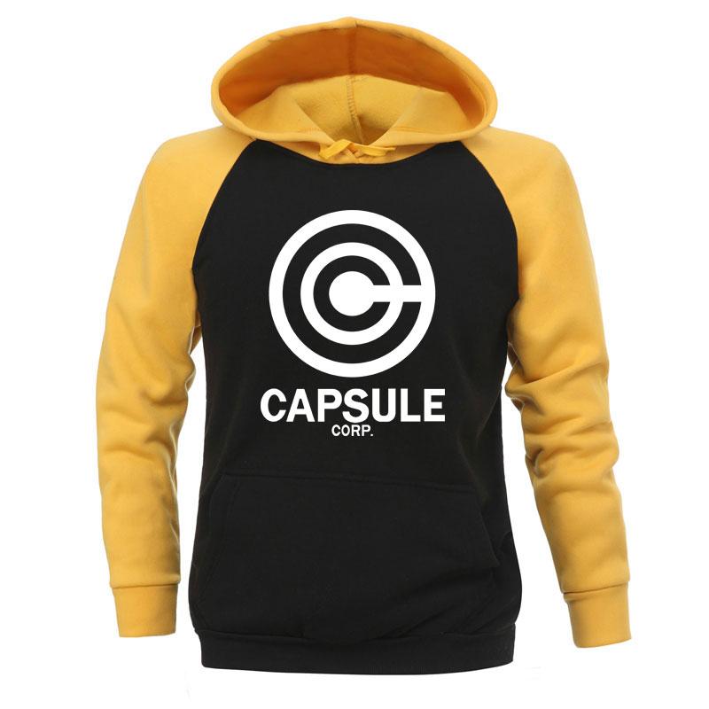 Dragon Ball Hoodies Men Capsule Corp Japan Anime Vegeta Sweatshirts Super Saiyan Hooded Sweatshirt 2019 Winter Autumn Sportswear