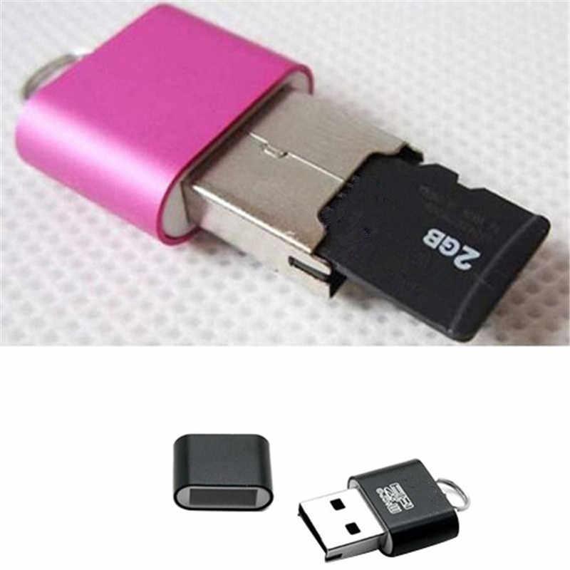 عالية السرعة USB 2.0 واجهة مايكرو SD TF T-فلاش ذاكرة محوّل قارئ البطاقات خفيفة الوزن المحمولة البسيطة الذاكرة CardReaderWholesale