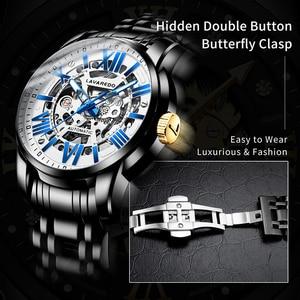 Image 4 - Lavaredo, reloj mecánico automático de lujo para hombre, reloj de pulsera de acero inoxidable de negocios de primera marca A5