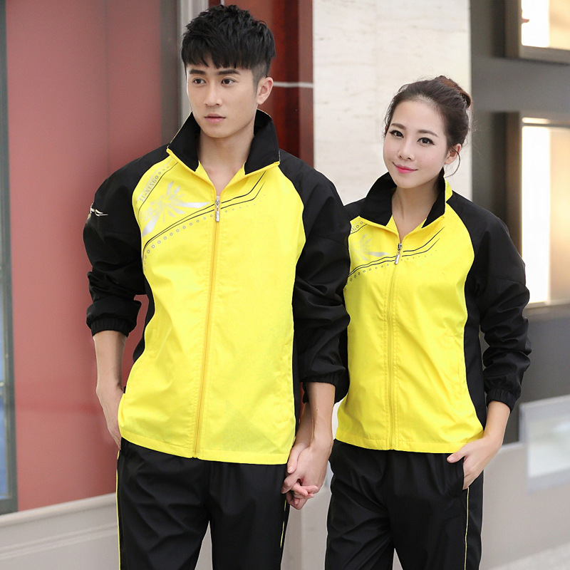 6869 MEN'S Sportswear Set Spring And Autumn Casual Running Couples Sports Clothing Large Size Sports Set