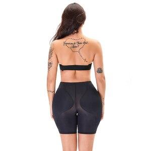 Image 4 - מזויף התחת מרים Shapewear ישבן מרופד תחתוני Fajas תחתונים מכנסיים קצרים שאיבת שומן בגד ירך גוזם צורת ללבוש ירך Enhancer