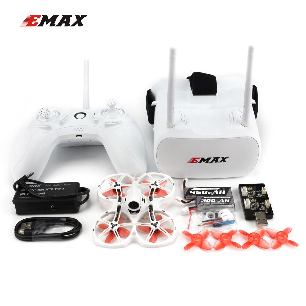 EMAX Tinyhawk II 75mm FrSky D8 Runcam Nano-2 Cam 25/100/200mw VTX 5A Blheli_S ESC 1-2S Whoop FPV Racing Drone BNF/RTF Quadcopter