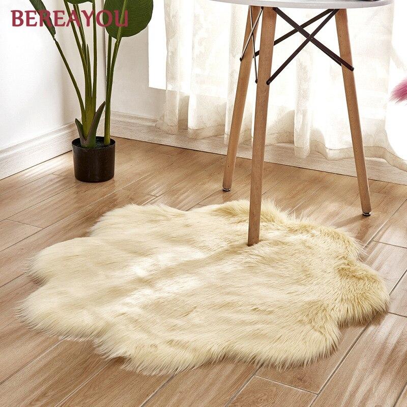 Tapis de fourrure nordique et tapis pour la maison salon chambre tapis chambre enfants chambre chaise couverture moderne tapis rond tapis chambre - 6