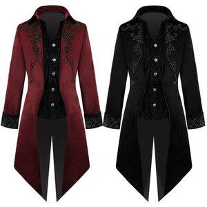 Мужской винтажный Тренч в стиле ретро, винтажный Тренч средней длины в европейском и американском стиле, для костюмированной вечеринки