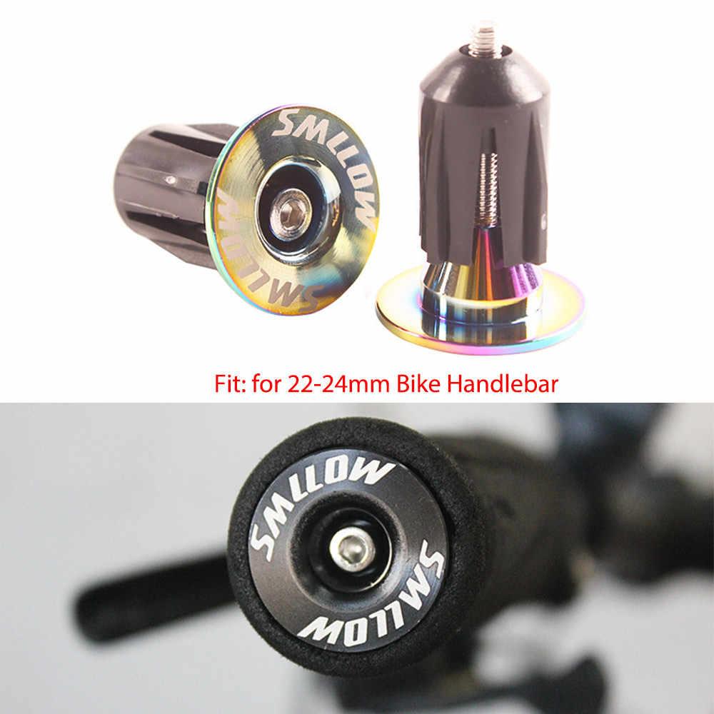 2pcs cycle road mtb bike handlebar end lock-on plugs bar grips caps covers P*CA