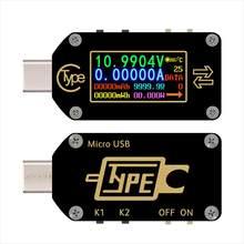 USB Display Tester di Tipo-C Voltmetro Amperometro Tester di Tensione Multimetro USB del Caricatore Batteria Tester TC66 Carica Veloce PD Protocollo