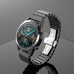 Image 1 - 22mm pulseira de relógio cerâmica para honra magic 2 46mm gt2 gt2e pulseira de relógio