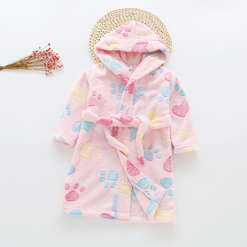 Baby Children's Bathrobe Toddler Boy Girl Animal Hooded Bath Towel Infant Bathing Blanket Soft Comfortable Clothes Gift 0-8T 1