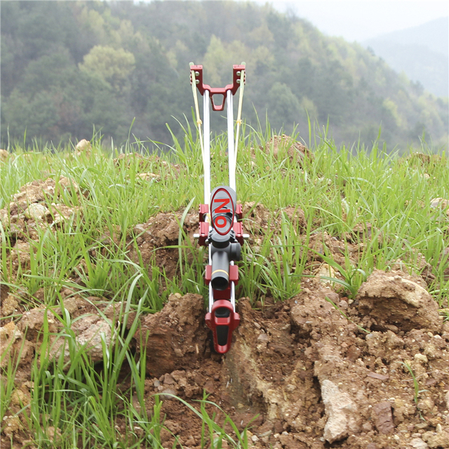 New Wolf King Slingshot Hunting Powerful Catapult Mechanical Slingshot Rifle Portable Stretch Outdoor Distance Shooting Toy 5