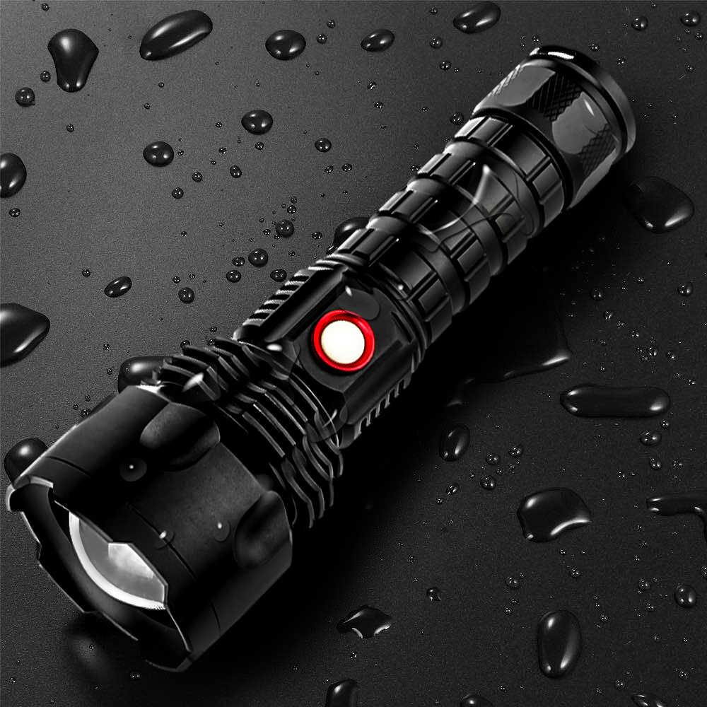 سوبر قوية مصباح ليد جيب XP50 مصباح مقاوم للماء ضوء فلاش USB قابلة للشحن قوة البنك الشعلة فانوس الأضواء للتخييم