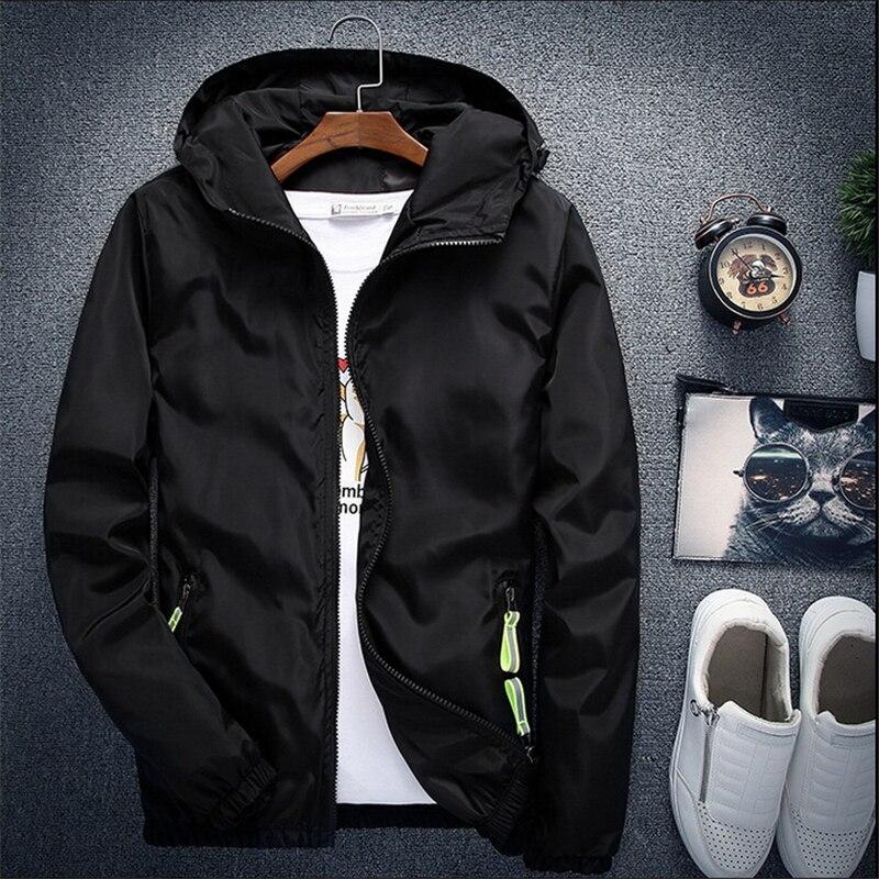 Men Autumn Bomber Jacket Women Casual Solid Windbreaker Zipper Thin Hooded Coat Slim Fit Pilot Jacket Outwear Male Plus Size 7XL 5