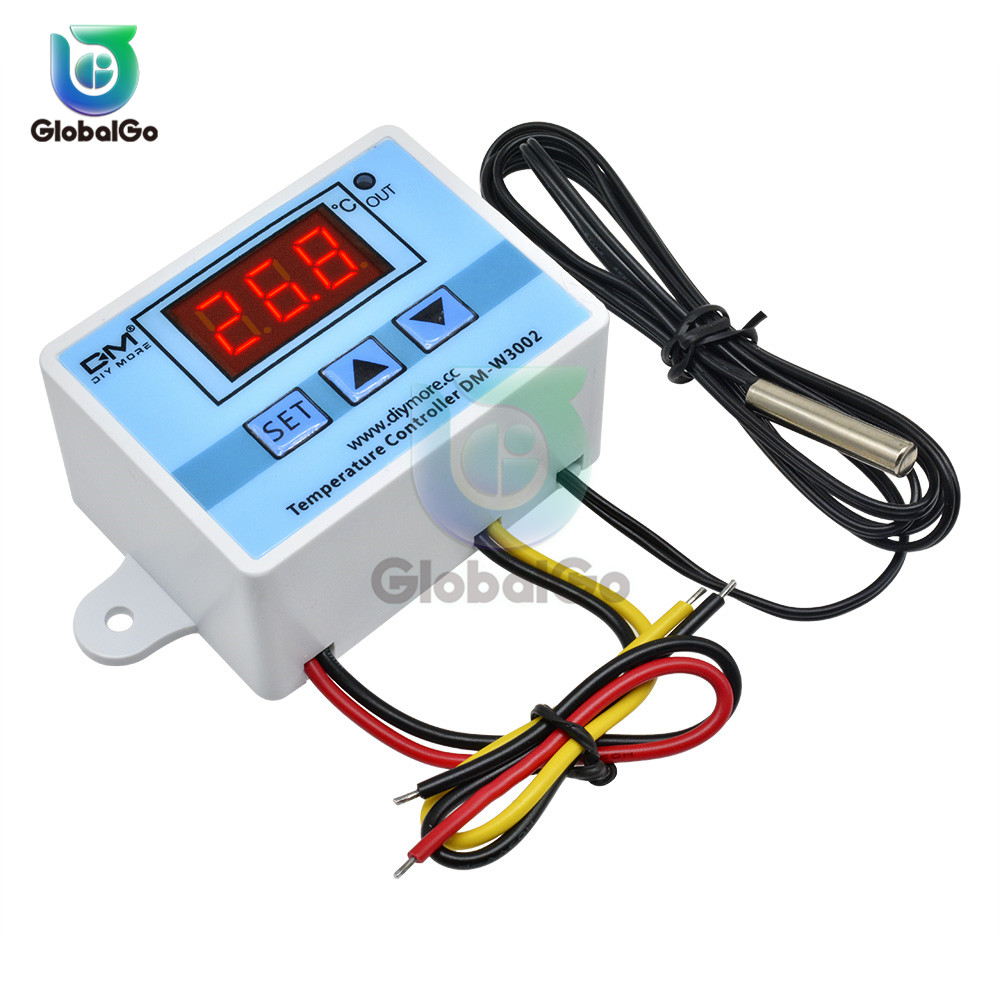XH-<font><b>W3002</b></font> <font><b>W3002</b></font> AC 110V-220V DC 24V DC 12V Led Digital Thermoregulator Thermostat Temperature Controller Control Switch Meter image