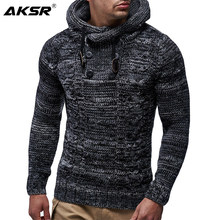 AKSR Winter Thicken Warm Hooded Cotton Sweater Men Long Sleeved Turtleneck Pullovers Slim Fit Male Sweaters Brand Coats Men(China)