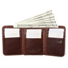Wallet Antitheft Scanning Leather  Hasp Leisure Men's Slim  Mini  Case Credit Card Trifold Purse цена и фото