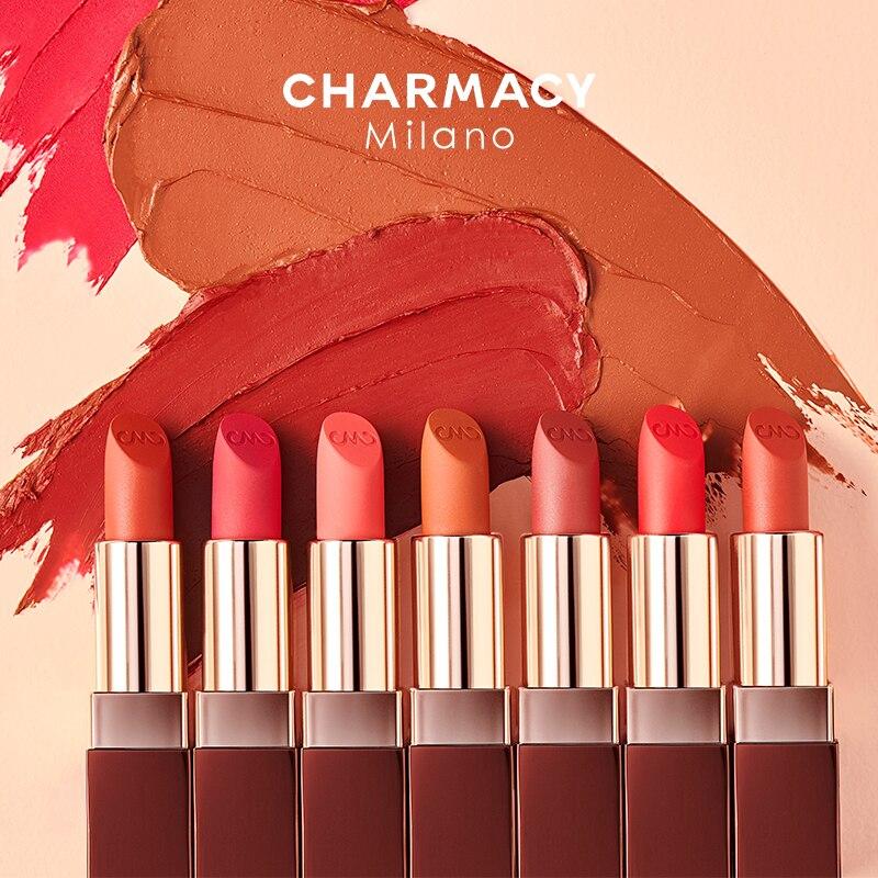 CHARMACY doux Satin mat Rouge à lèvres nutritif velours Rouge à lèvres Sexy longue durée mat Rouge à lèvres crée élégant doux brouillard lèvres