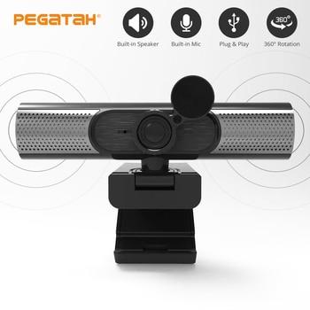 Speaker Webcam 1080p Web Camera with Microphone PC Camera Full HD Webcam 1080p Web Cam for Computor Usb Camera With Webcam Cover 1
