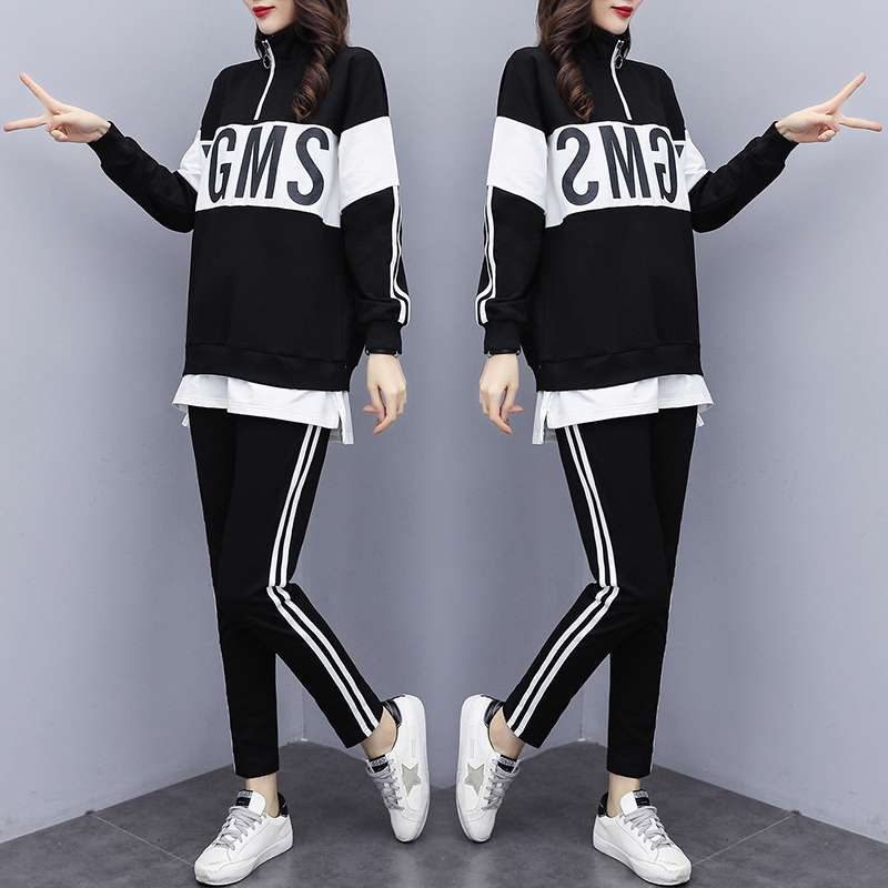 Women's Sports Suit 2020 Spring Tracksuit Female Lapel Top+pant Two Piece Outfits For Women