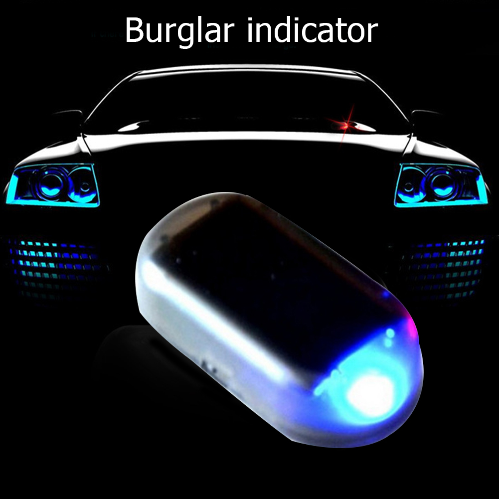1PCS Universal Solar Car Anti-theft Alarm LED Light Imitation Security System Warning Theft Flash Blinking Lamp For Ford Audi