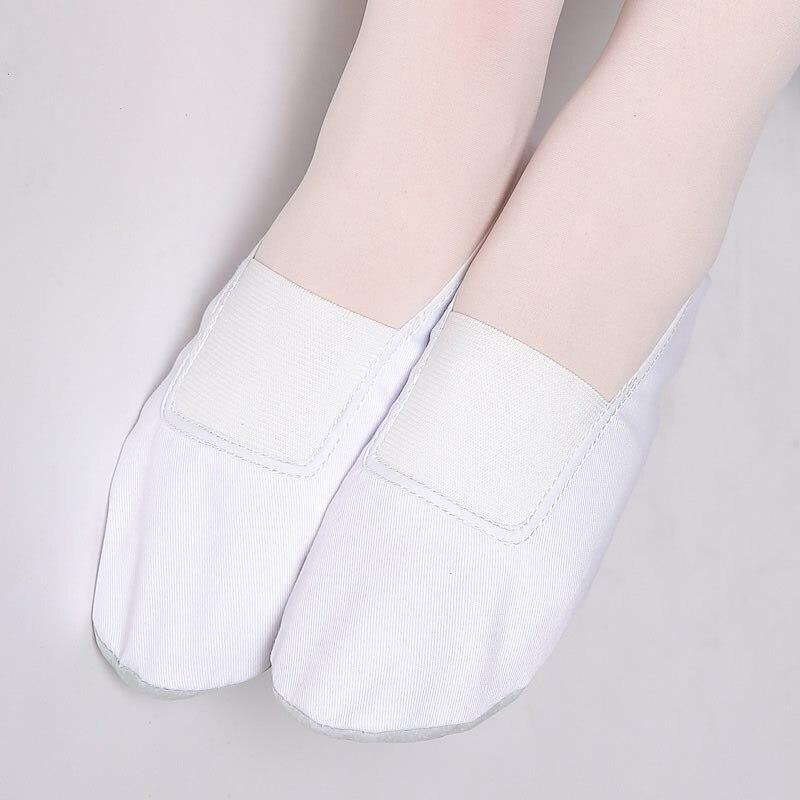 USHINE EU22-45 full leather sole white flat yoga teacher Fitness gym ballet dance shoes children woman man
