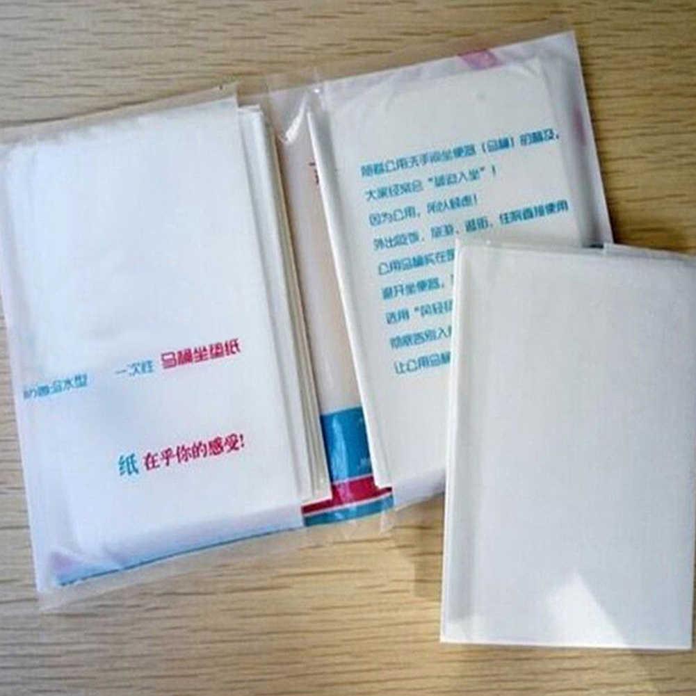 10 قطعة جيب آمنة المحمولة ورق للاستعمال مرة واحدة مقعد المرحاض closeالبراز غطاء وسادة المرحاض يغطي مقعد اكسسوارات جديد جودة عالية