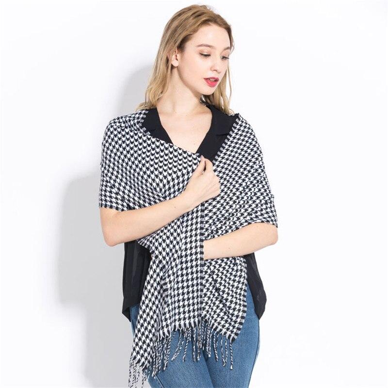 Luxury Brand Plaid Scarf 2019 Winter Cashmere Scarf For Women Foulard Femme Long Wool Pashmina Ladies Shawls Men Business Scarf