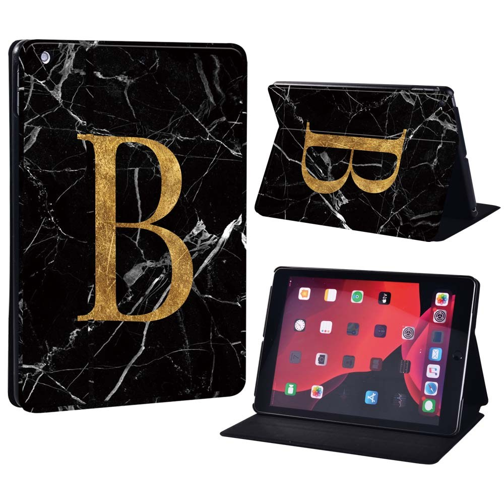 letter B on black Blue For Apple iPad 8 10 2 2020 8th 8 Generation A2428 A2429 Printing initia letters PU