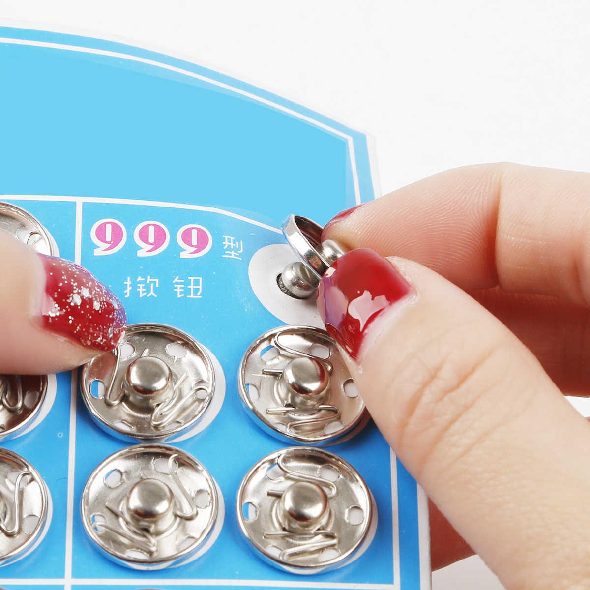 8-20MM Metalen Drukknopen Zwart Rhodium Iron Knoppen voor DIY Naaien Doek Scrapbook Accessoires Benodigdheden