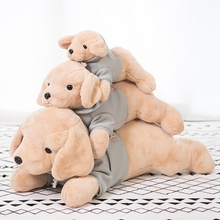 40cm-80cm High Quality Dressed Dogs Plush Toy Soft Stuffed Cartoon Animal Golden Retriever Sleeping Pillow Chair Cushion Gifts