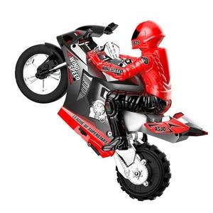 HC-801 RC moto autobilanciante 360 gradi deriva giroscopio a 6 assi illuminazione fredda caratteristiche acrobatica moto da corsa giocattolo per bambini