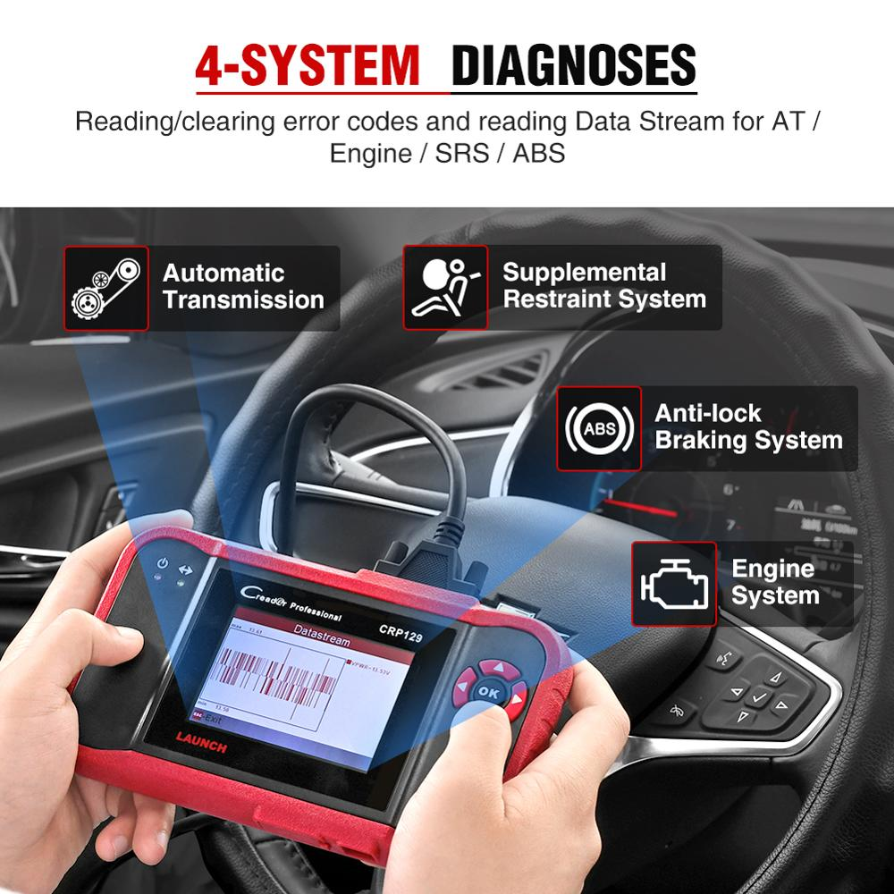 Image 3 - LAUNCH CRP129 OBD2 Scanner Auto Code Reader ABS Airbag Engine Transmission Diagnostic Scan Tool with EPB SAS Oil Resetlaunch creadercrp 129launch creader crp129 -